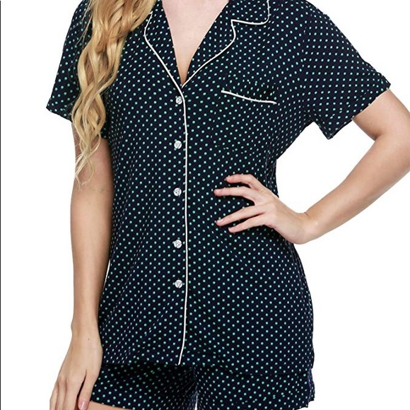 81914c584c2a9 Women's Ekoauer Short Sleeved Satin Pajama Set PJs NWT